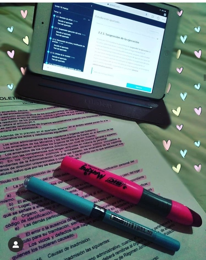 Ventajas de estudiar una oposición en la tablet