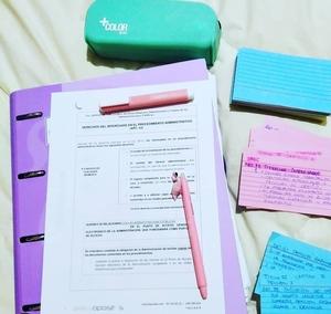 Cómo me motiva la papelería bonita para estudiar mi oposición