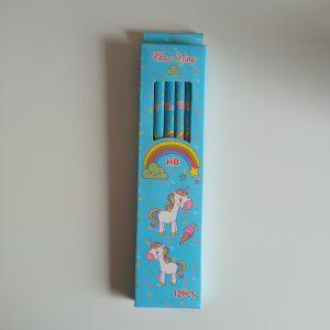 Lápiz hb unicornio azul pack 12 uds
