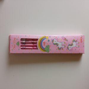 Lapiz hb 12 uds unicornio rosa