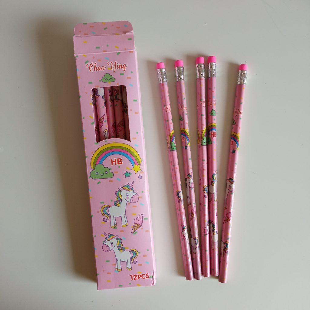 Lapiz hb 12 uds unicornio rosa suelto