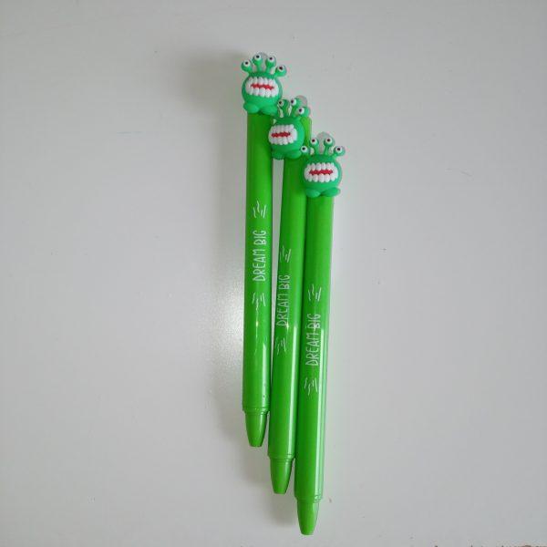 Bolígrafo borrable MP monstruos verdes
