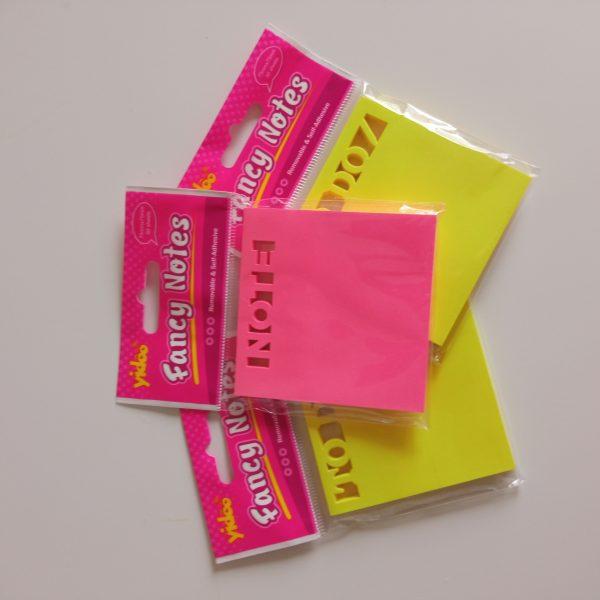 Notas adhesivas fancy notes 50 notas 75mmx75mm rosa y amarillo