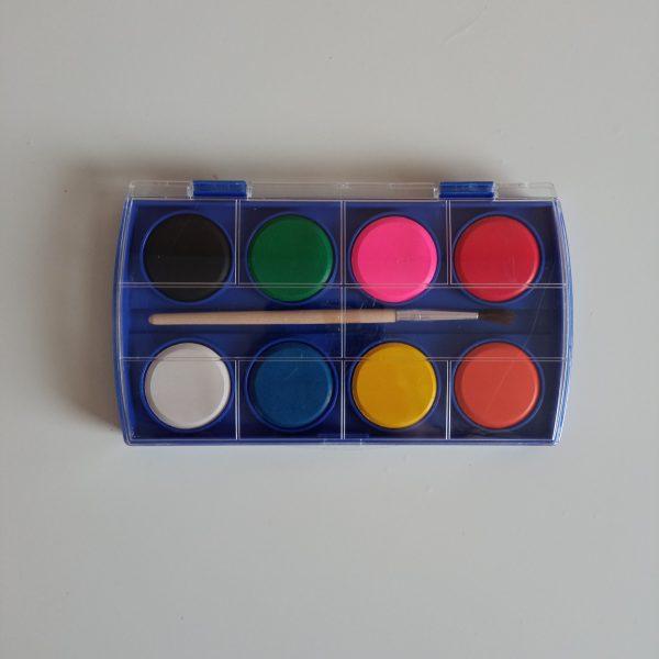 Set acuarelas 8 colores con pincel incluido Mp