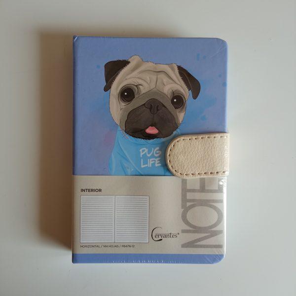 Libreta perrito a6 pug