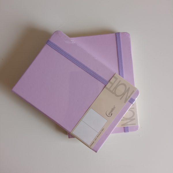 Libreta A6 lila cervantes dos