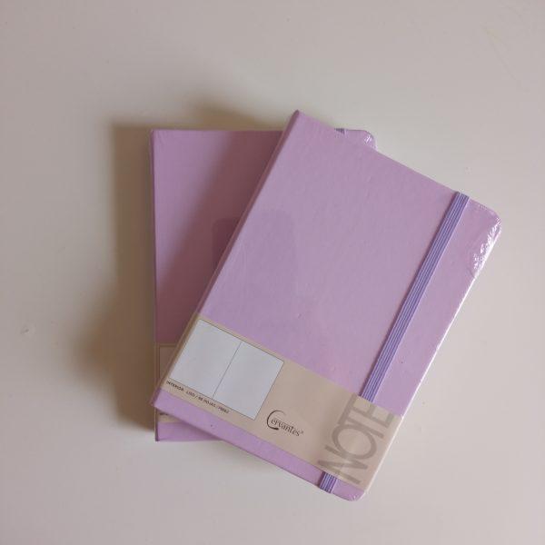 Libreta A6 lila cervantes pack 2
