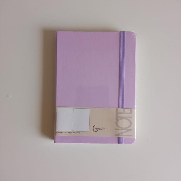 Libreta A6 lila cervantes