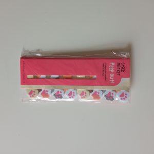 Marcapáginas pequeños animales rosa