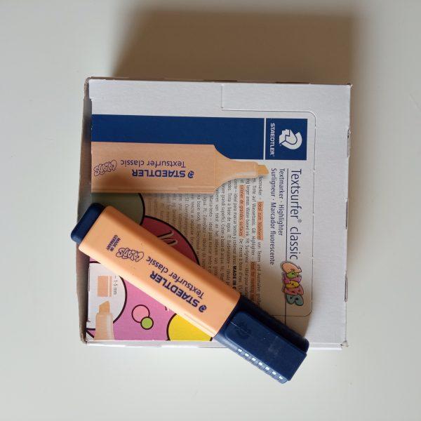 Marcador Staedtler naranja pastel unidad caja
