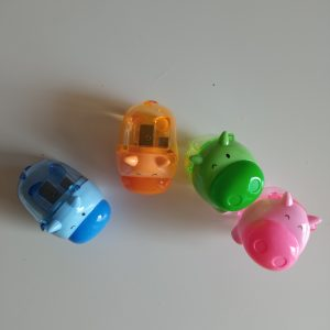 Sacapuntas rinocerontes de colores