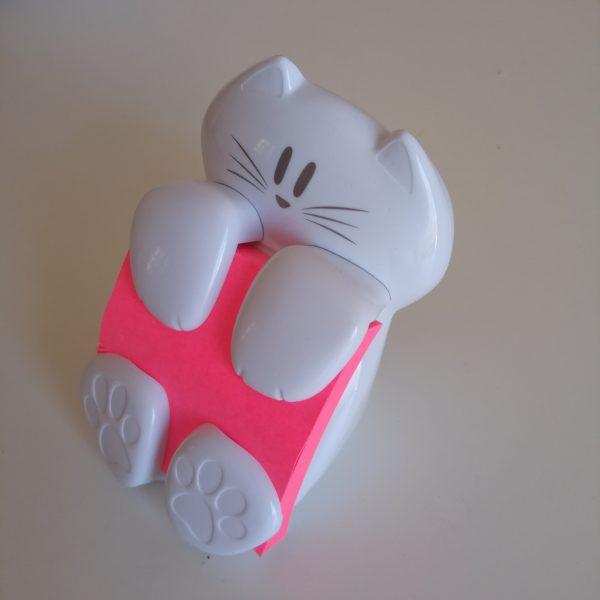 Gato dispensador post-it lateral