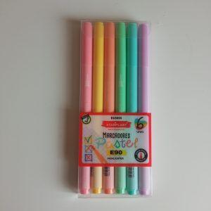 Marcadores pastel Starplast pack 6 unidades.